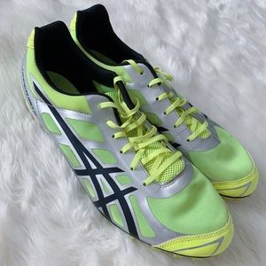 Asics Hyper MD 5 Track Running Spike Shoes 11 Neon